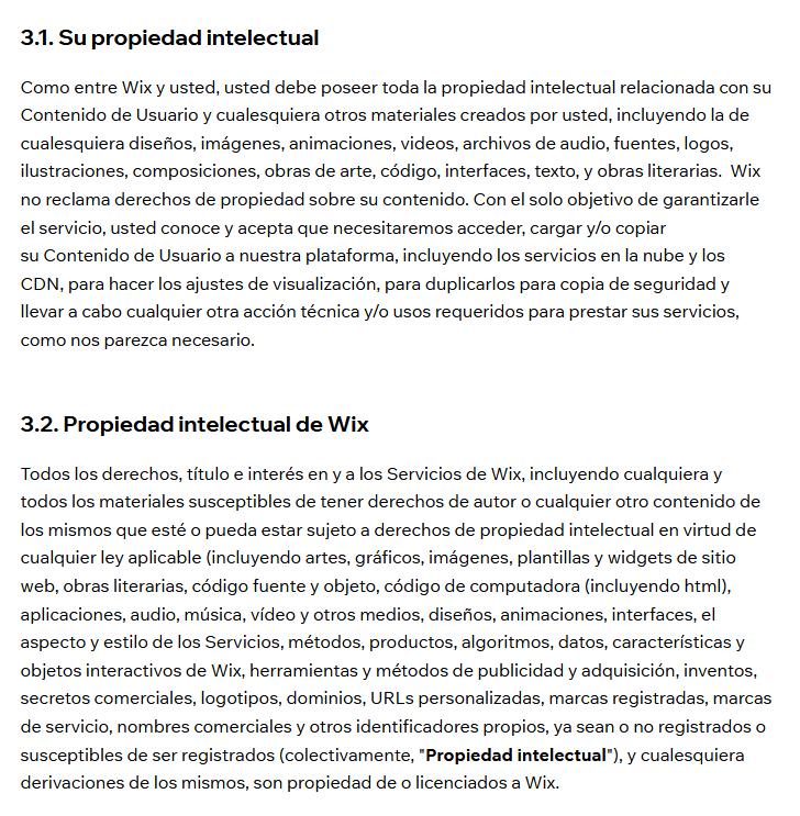 Propiedad Intelectual WIX