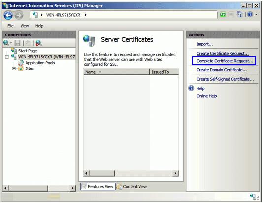 Instalar un SSL IIS7