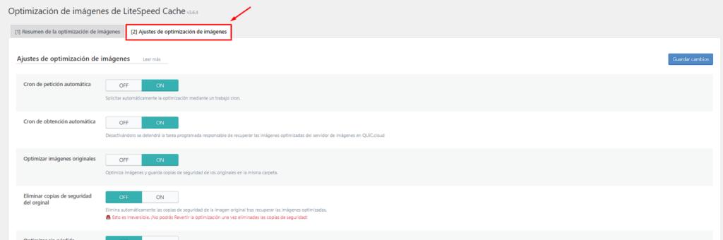 Optimización de imágenes con LiteSpeed